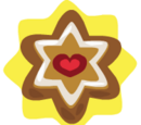 Heart Star Ornament