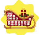 Santa Sleigh Advent Calendar