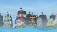 Flota barcos piratas