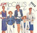 McCall's 2412 A