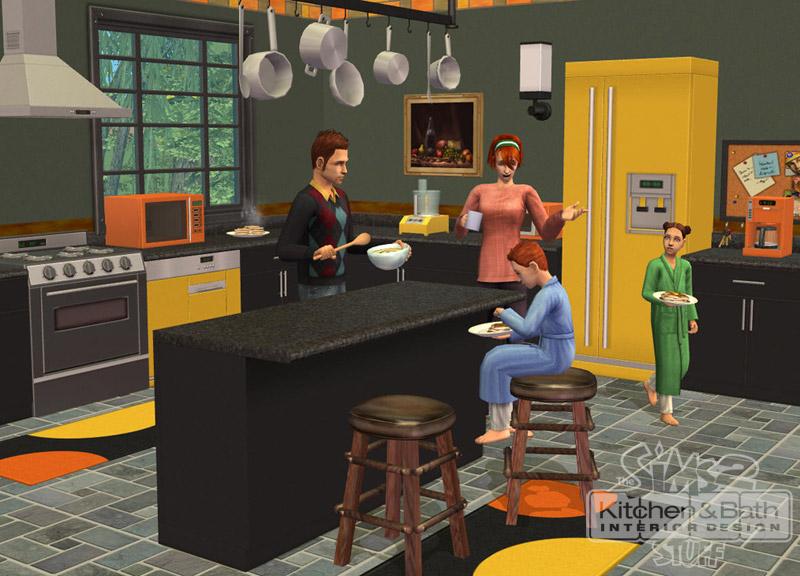 Image cuisine et salle de bain design les sims - Decoration cuisine et salle de bain ...
