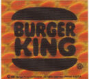 Burger King reflective bicycle sticker (Burger King, 1981)