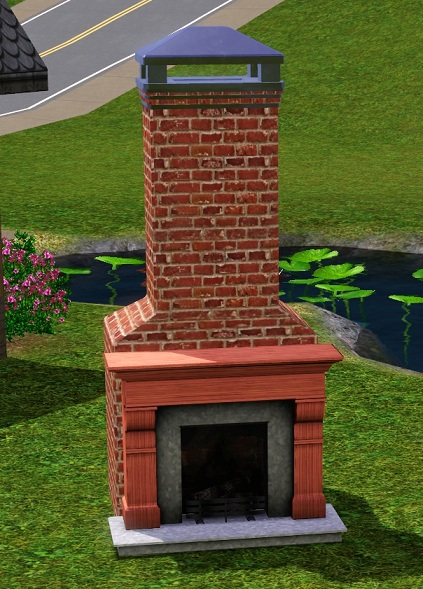 Sims  Build Mode During Fire