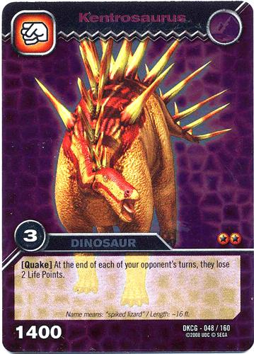 Kentrosaurus Dinosaur King card jpg - Dinosaur King