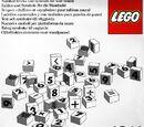 1011 LEGO Number/Symbol Blocks