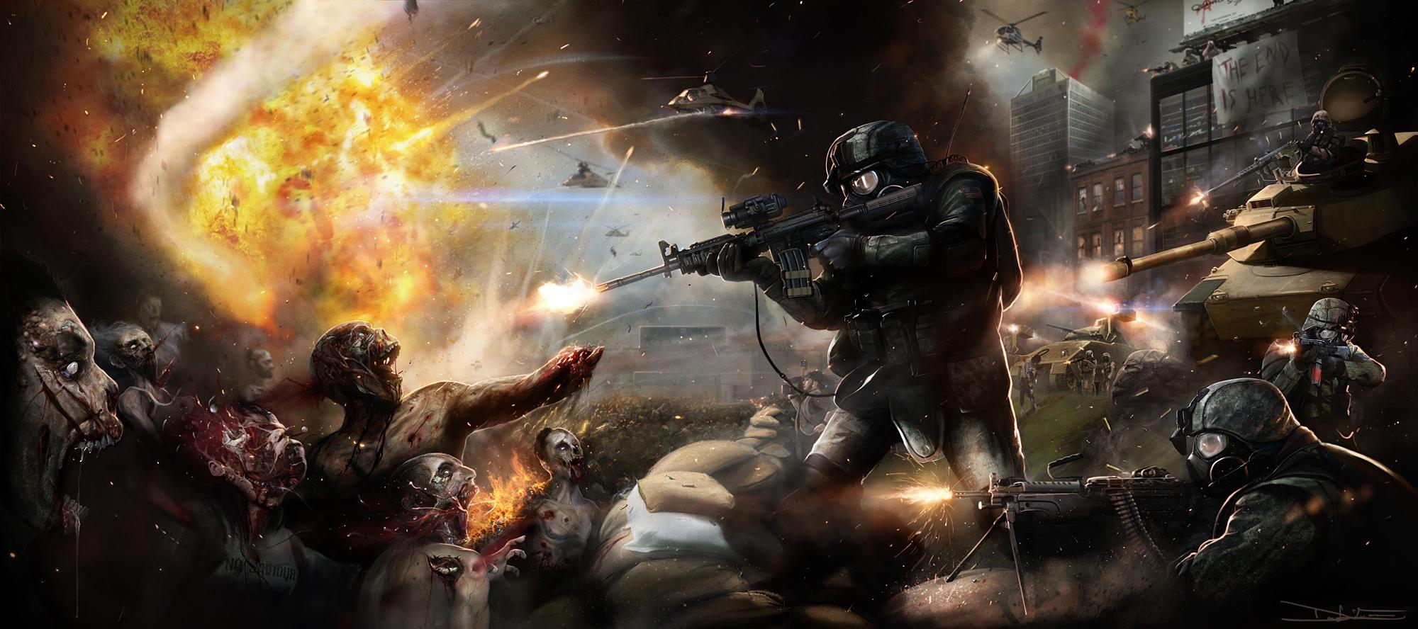 [OFF/NETO]Porque a ideia de um apocalipse Zumbi é idiota e fadada ao fracasso. 20110421023034!Army_vs_zombies!!!