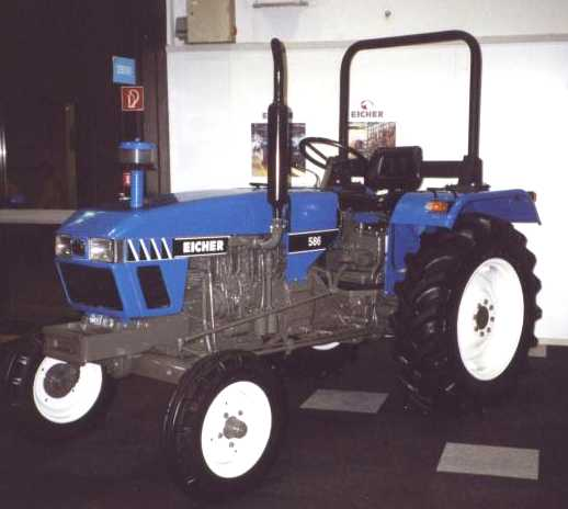 Eicher 586 tractor construction plant wiki the for Eicher motors share price forecast