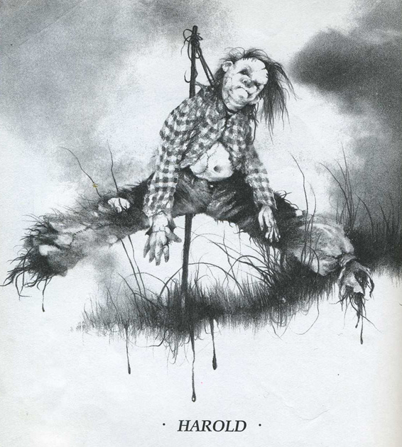 Dark Scarecrow Drawing Harold is an Evil Scarecrow