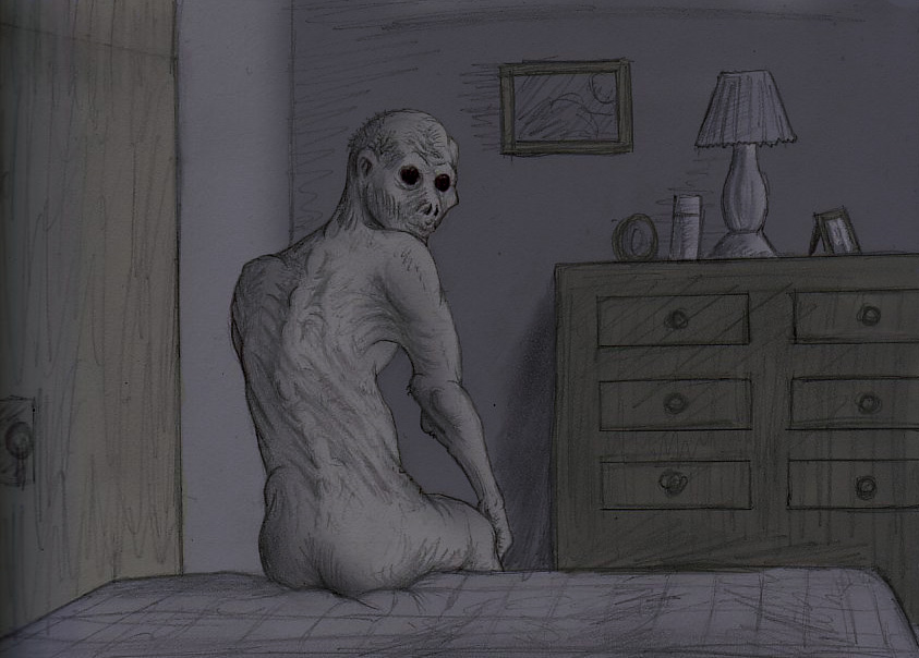 Creepypasta The Rake Illustration of the rake by