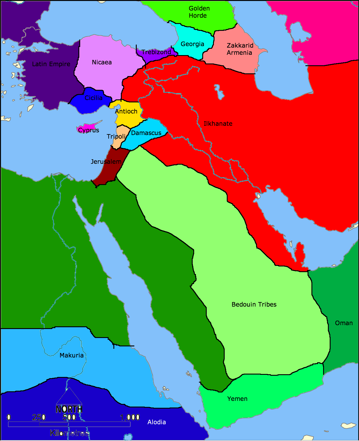 History In The Middle East Map