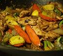 Garlic Chicken Zucchini Stir-fry
