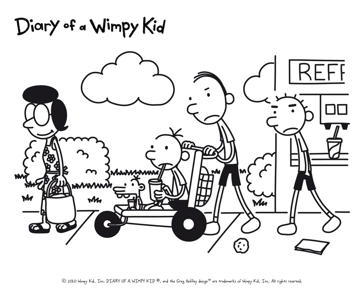 old greg coloring pages - photo#26