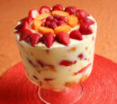 Strawberry Angel Food Trifle