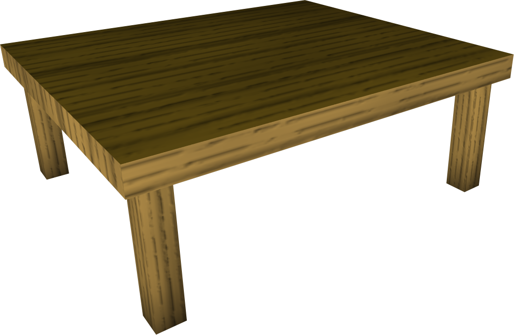 Wood kitchen table the runescape wiki for Table wikipedia