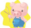Blue Pig Plushie