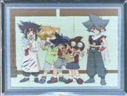 A equipe da dormitório kai