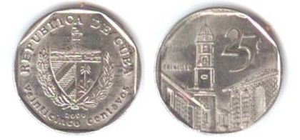 Cuban 25 Centavo Coin Convertible Peso Currency Wiki The Online Numismatic Encyclopedia