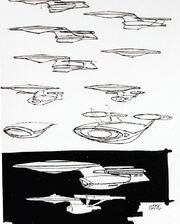 Galaxy class USS Enterprise-D November 1986 design process
