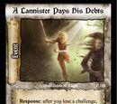 A Lannister Pays His Debts (WE)