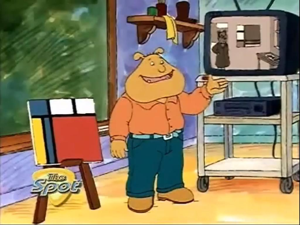 Character color differences in early and later seasons Binky_Barnes,_Art_Expert