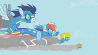 Rainbow Dash as a Wonderbolt S1E03