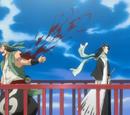 Ganju Shiba y Hanatarō Yamada vs. Byakuya Kuchiki