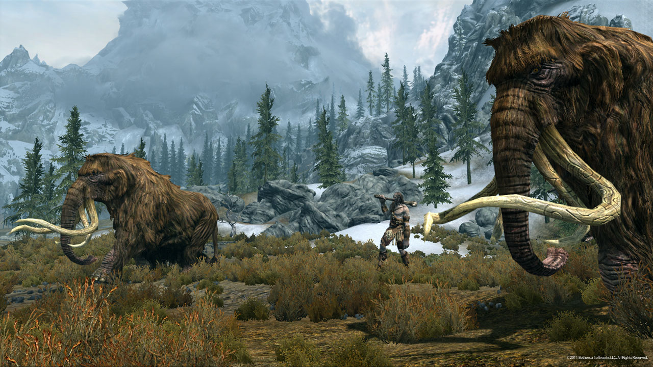 Skyrim Mammoth Armor Mammoths Roam Skyrim Under