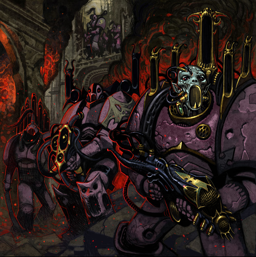 [W40K] Collection d'images : Space Marines du Chaos - Page 4 Noise_Marines_Attack