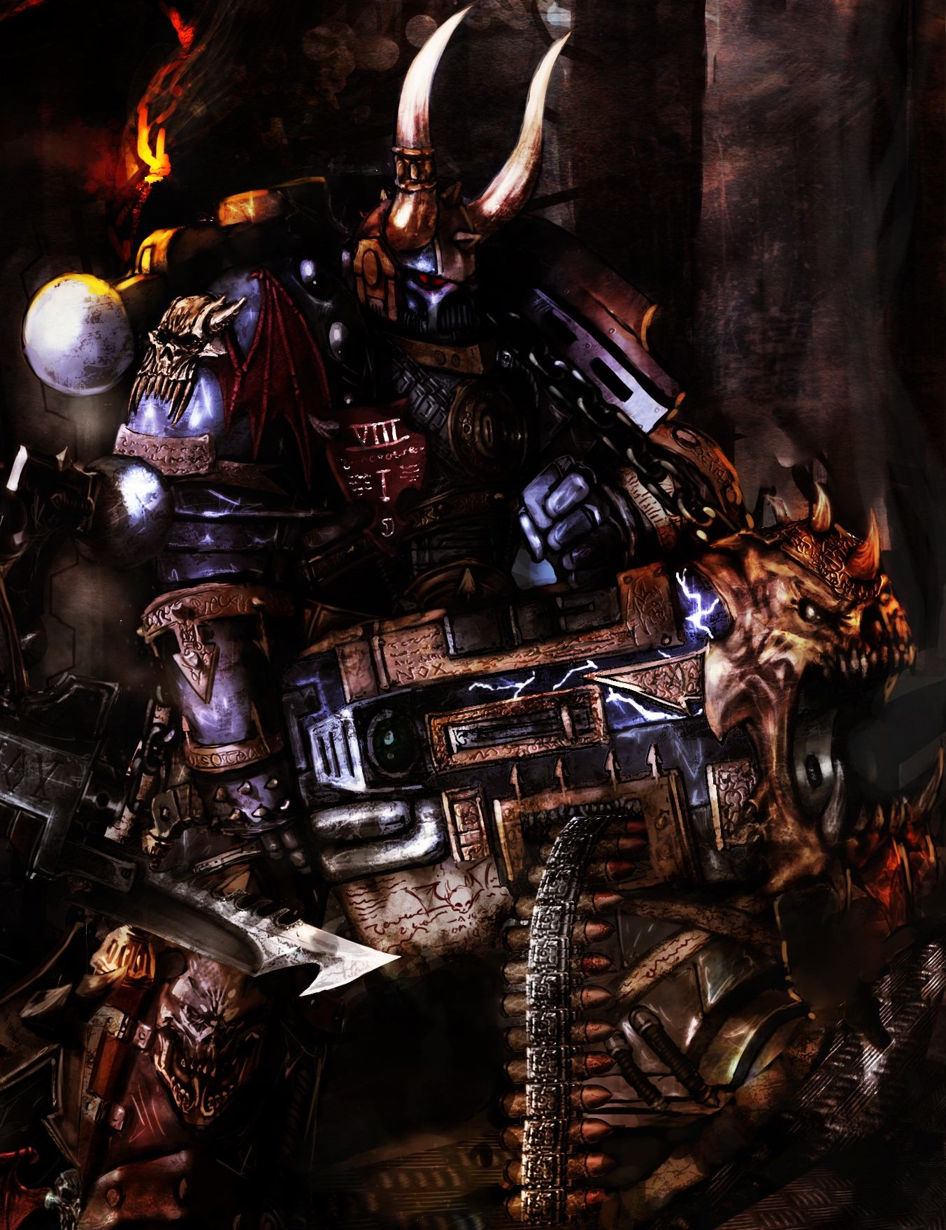 Warhammer 40k Chaos Art