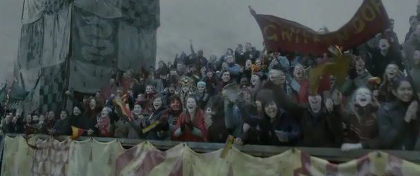 Crowd for gryfindor