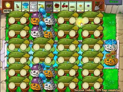 Plants vs zombies survival tactics video