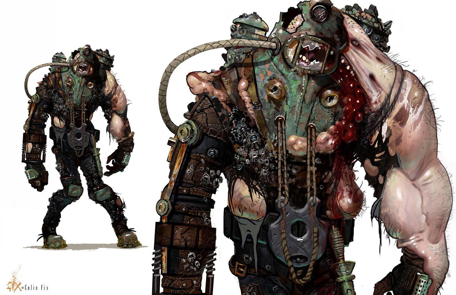 Bioshock What Does A Big Daddy Look Like Under His Suit