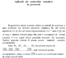 Aplicații ale numerelor complexe în geometrie