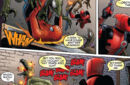 Wade Wilson and Peter Parker vs Symbiote Dinosaurs (Earth-616) from Cable & Deadpool Vol 1 50 0001.jpg