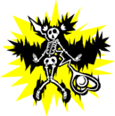 Platinum the Trinity (Sprite, electrocuted).png