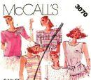 McCall's 3070 B