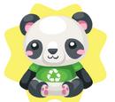 Eco Panda Plushie