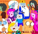 Finn and Jake meet Fionna and Cake