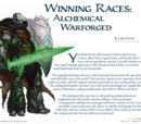 Winning Races: Alchemical Warforged