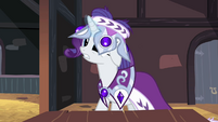 Rarity put crown wrong way S2E11