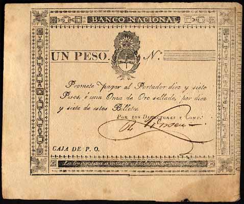 Argentine peso moneda corriente