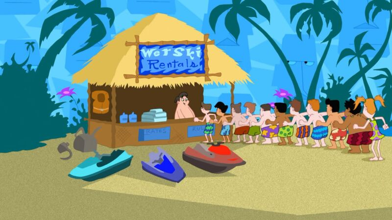 image lawn gnome beach party of phineas and ferb wiki