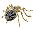 Black Widow Brooch By Faberge