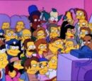 Citizens of Springfield couch gag