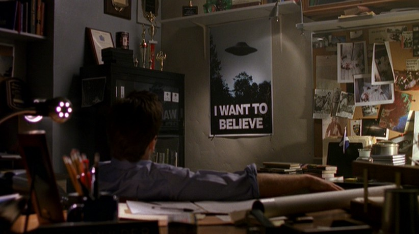 officer he calls...X Files I Want To Believe Poster Mulder Office