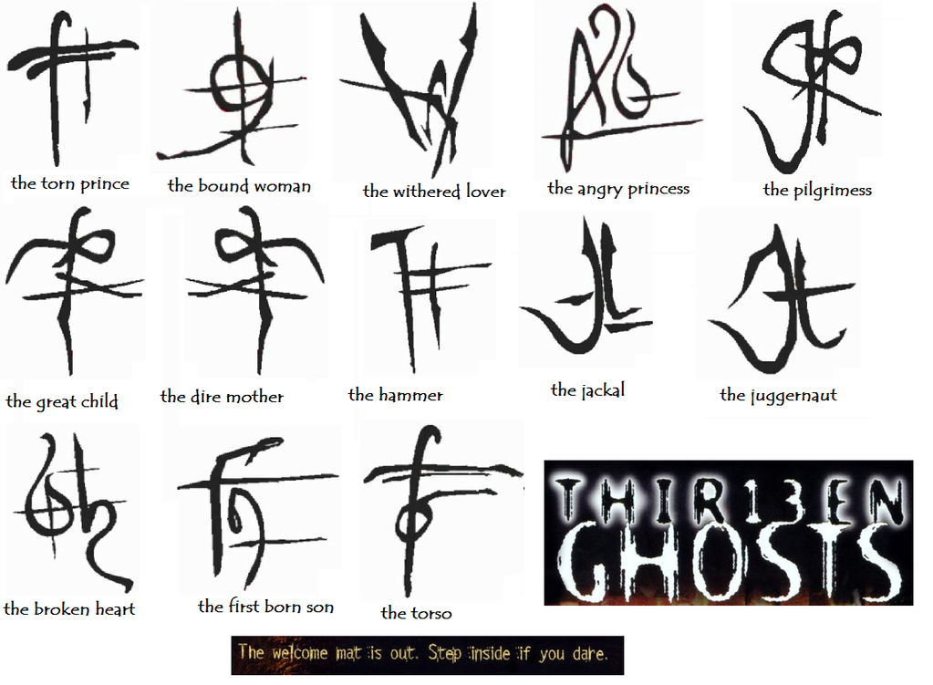 13 Ghosts Symbols Amcythytal35s Soup