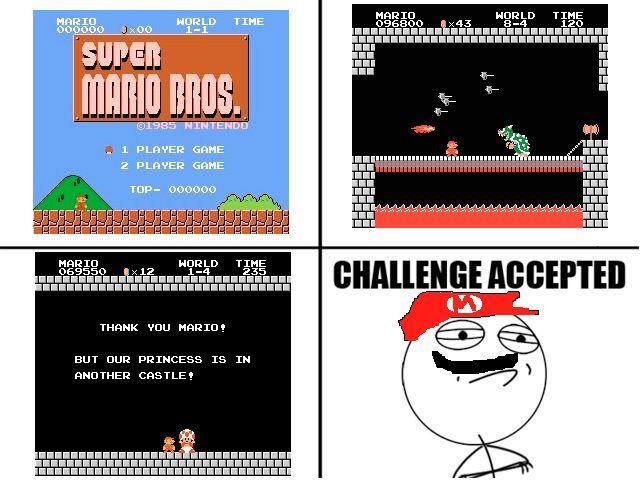 Unos cuantos memes para reírnos Challenge-accepted-mario