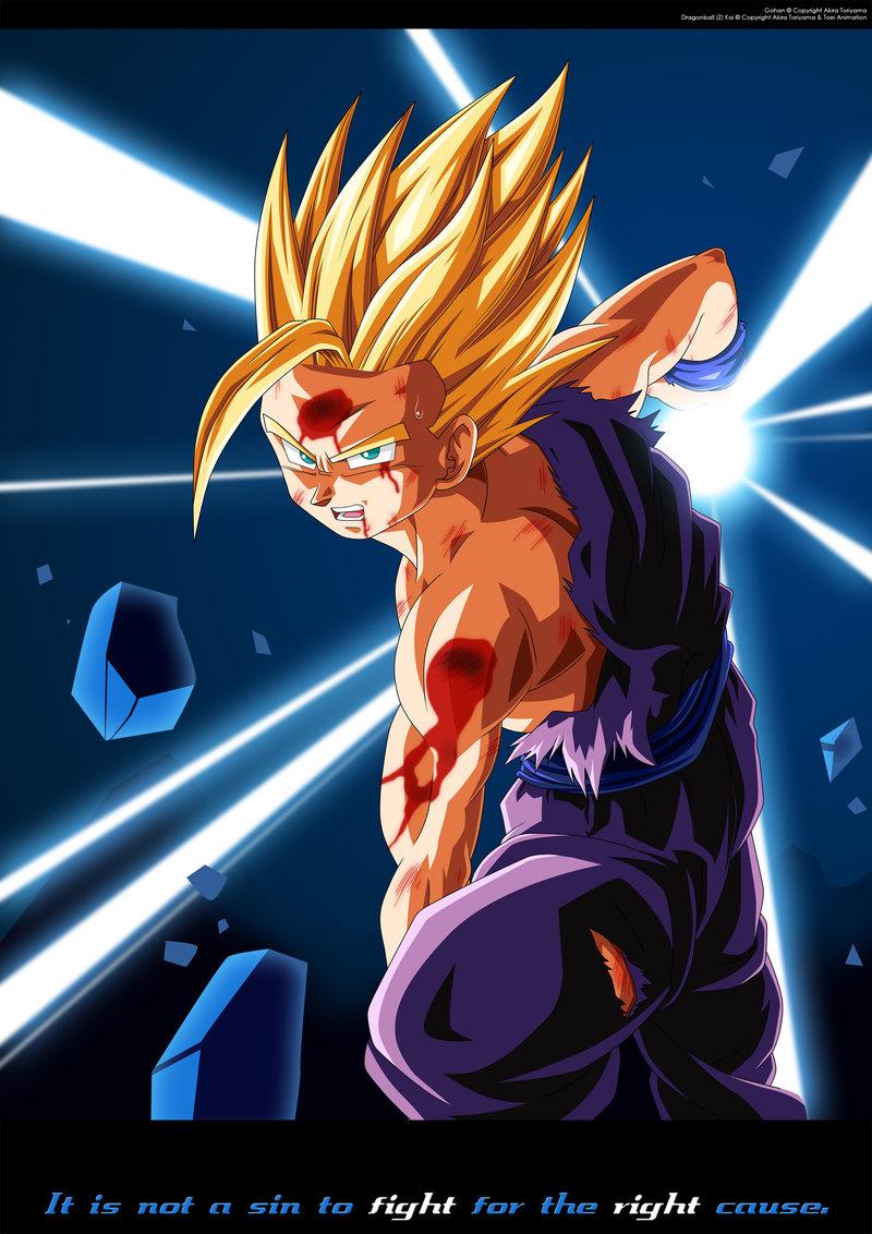 Image Gohan Ssj2 Kamehameha Vs Cell Jpg Dragon Ball Wiki