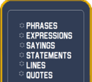 Phrases and Terms