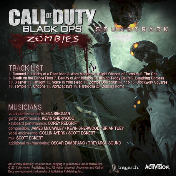 Call Of Duty Black Ops Zombies Soundtrack The Call Of